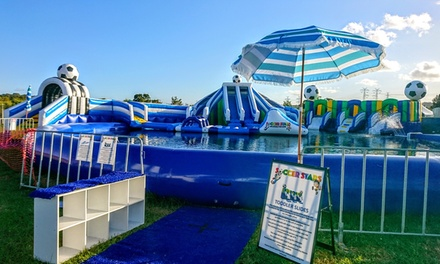 TwoHour Waterpark Session: 1 $12, 2 $24 or 4 People $48 at Soccer Stars Inflatable Fun Park Up to $68.50 Value