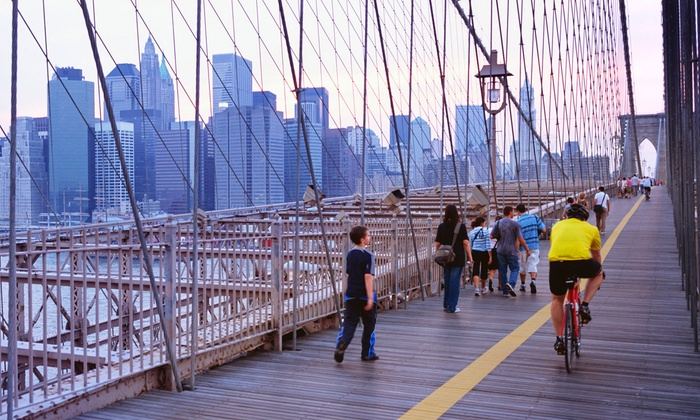 Brooklyn Bridge Sightseeing - Financial District: Two- or Four-Hour Bike Rental for One or Two from Brooklyn Bridge Sightseeing (Up to 58% Off)