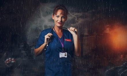 groupon.co.uk - NHS or Key Worker Superhero Photoshoot with A4 Print at Click Portrait Experiences, Nationwide (Up to 90% Off)