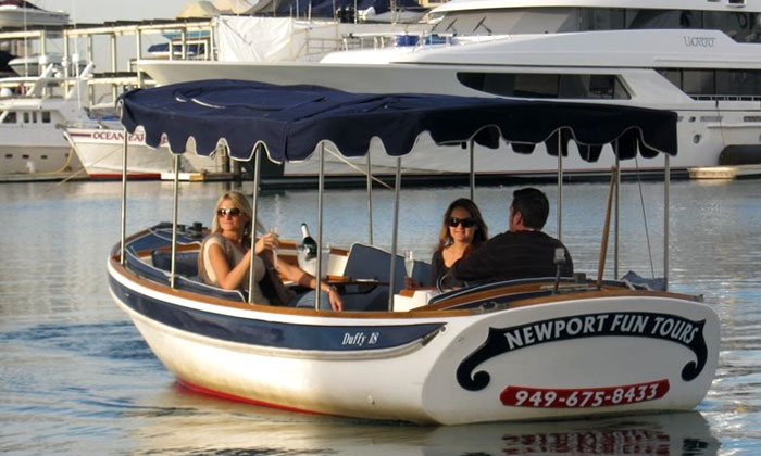 Newport Fun Tours - Newport Beach: $67 for 90-Minute Electric-Boat Rental from Newport Fun Tours ($135 Value)
