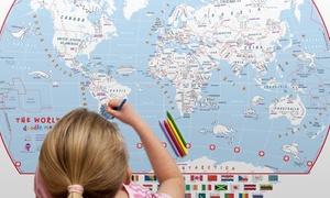 Carte du monde coloriage enfant