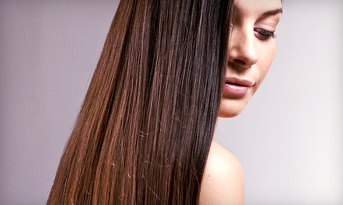 Salon Soignee - North Gates: Keratin Treatment with Optional Haircut, or Cut with Conditioning at Salon Soignee (Up to 64% Off)