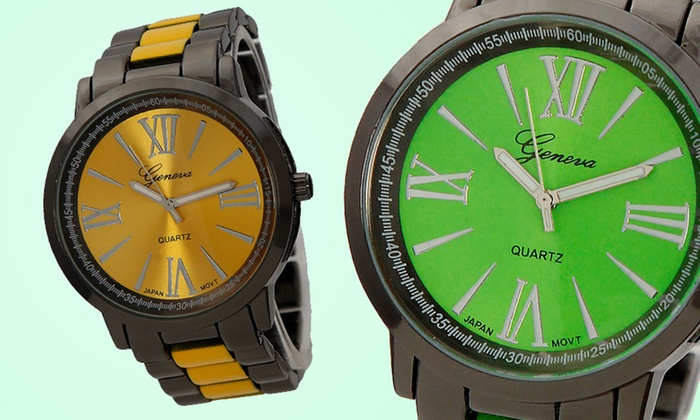 Geneva Unisex Neon Watches: Geneva Unisex Neon Watches. Free Returns.