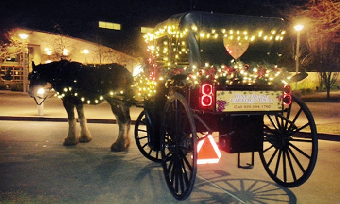 Livermore Wine Carriage - San Jose: Holiday Lights Tour in a Horse-Drawn Carriage for Two or Four from Livermore Wine Carriage (Up to 53% Off)