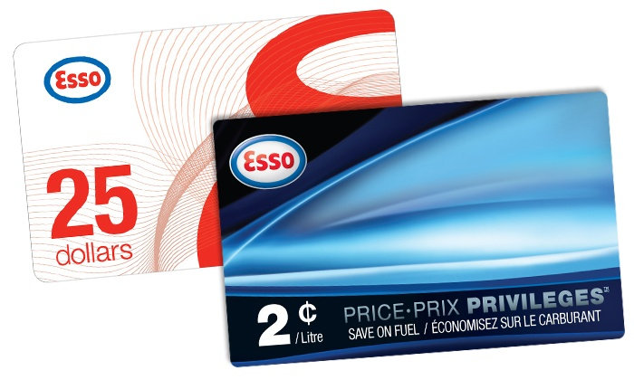 Esso Stations in Canada: C$28 for One $25 Esso Gift Card and One PRICE PRIVILEGES Fuel Savings Card from Esso (Up to C$35)