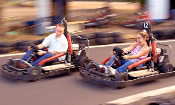 Boschertown Grand Prix Racing - St Charles: Four or Sixteen 3-mile Kart Rides at Boschertown Grand Prix Racing (Up to 54% Off)