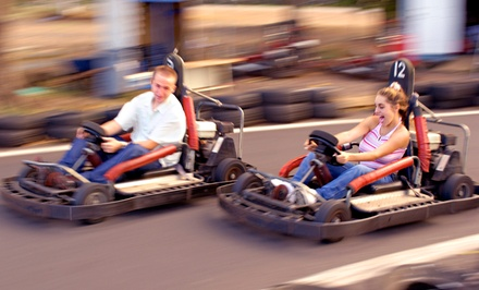 Four or Sixteen 3-mile Kart Rides at Boschertown Grand Prix Racing (Up to 54% Off)