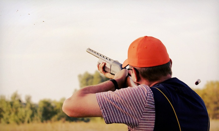 Wings North - Pine City: Clay-Shooting Package with 100 or 200 Sporting Clays, Appetizer, and Drinks for Two at Wings North (Up to 57% Off)