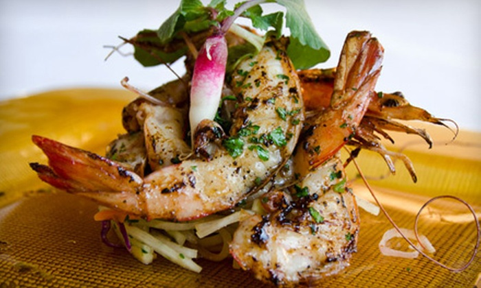 Poms Signature Restaurant - Windy Hill: Upscale Thai Fusion Cuisine at Poms Signature Restaurant (Half Off). Two Options Available.