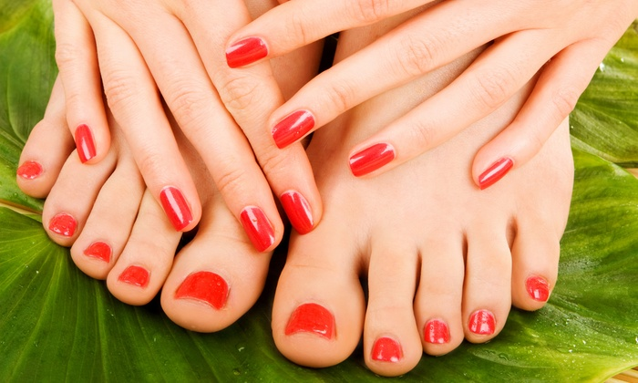 Debbie at Peter Ashley Salon - Hazardville: Mini Mani-Pedi or a Gel Manicure and Spa Pedicure by Debbie at Peter Ashley Salon (Up to 52% Off)