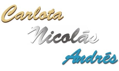 Uno o dos nombres en letras madera, espejo o goma eva en diferentes colores desde 16,95 € en Imagina Grupo