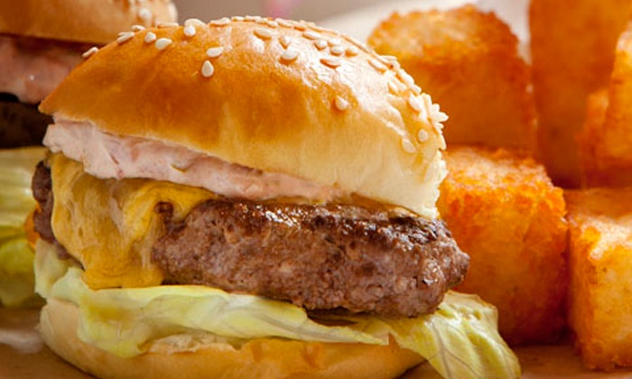 Phil's Sliders - Downtown Berkeley: Dine-in or Take-Out Sliders, Potato Tots, and Shakes at Phil's Sliders (40% Off). Three Options Available.