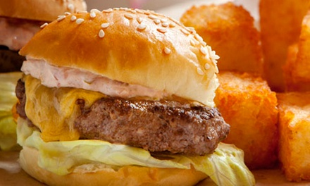Dine-in or Take-Out Sliders, Potato Tots, and Shakes at Phil's Sliders (40% Off). Three Options Available.