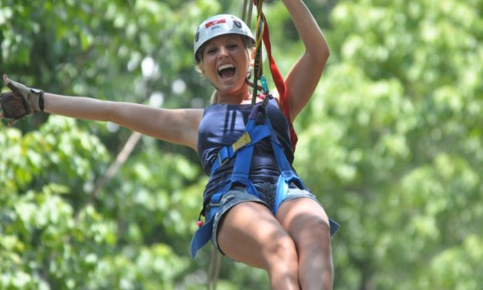 Eagle Falls Ranch Zipline Adventures - Eminence: Zipline Adventure for One, Two, or Four During the Day or at Night at Eagle Falls Ranch (Up to 54% Off)