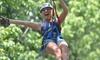 Eagle Falls Ranch - Eminence: Zipline Adventure for One, Two, or Four During the Day or at Night at Eagle Falls Ranch (Up to 54% Off)