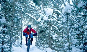 E47 ÉcoSentiers et Villégiature: 2-Hour Fatbiking Outing with Port and Chocolate with E47 ÉcoSentiers et Villégiature (Up to 49% Off)