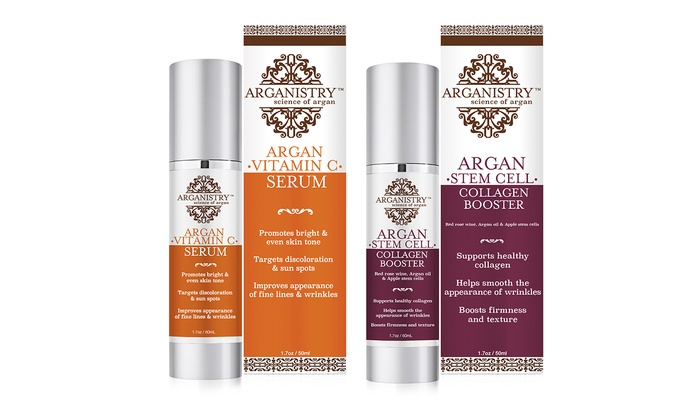Arganistry Vitamin C Serum And Stem Cell Collagen Booster Bundle