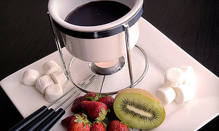 Ausanda Chocolate Cafe - Virginia Beach: Fondue and Hot or Iced Chocolates for Two with Two or Four Belgian Truffles at Ausanda Chocolate Cafe (Up to 60% Off)
