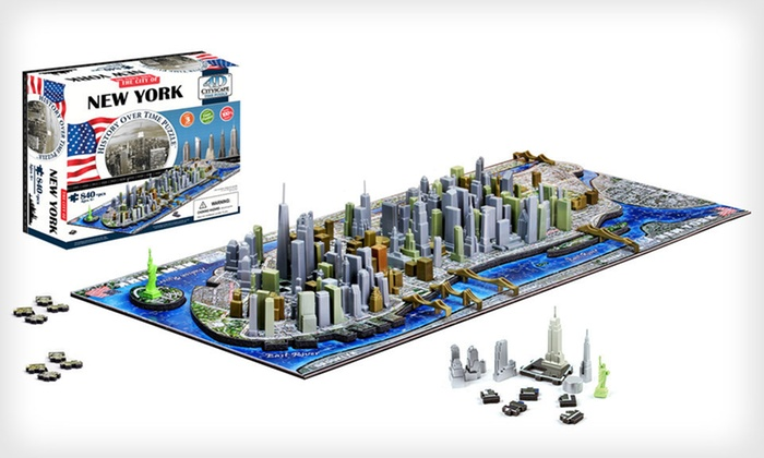 4D Cityscape Puzzles: $19 for a 4D Cityscape Puzzle ($39.99 List Price). Seven Options Available. Free Shipping.