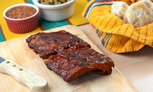 G.T. South's Rib House: Southern-Style Barbecue at G.T. South's Rib House (Up to 46% Off). Three Options Available.