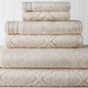 Jacquard-Patterned and Solid Towel Sets