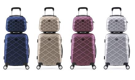 Valise cabine et vanity ABS ultra résistant Air V, coloris au choix