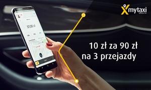 mytaxi: mytaxi 10 zł za groupon wart 90 zł na 3 przejazdy i więcej