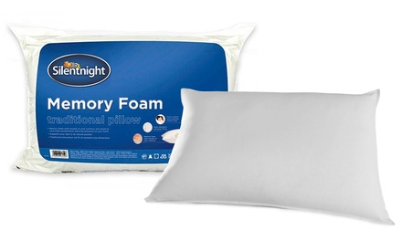 One or Two Silentnight Traditional Memory Foam Pillows from £11.99
