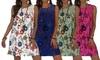 Summer Lace-Up Floral Print Dress