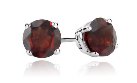 1 or 3 Pairs of 2 CTTW Garnet Stud Earrings for $17.99 or $23.99