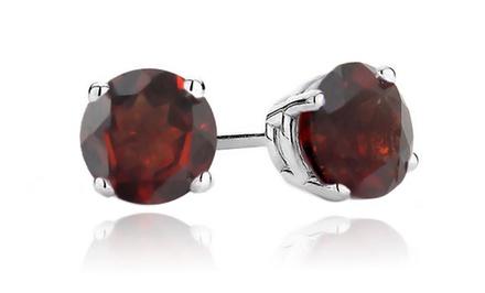 1 or 3 Pairs of 2 CTTW Garnet Stud Earrings for $17.99 or $23.99