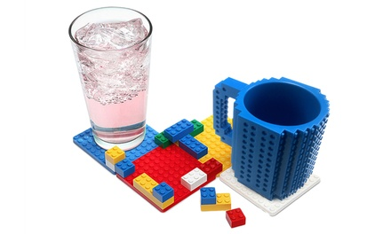 One, Two or Three FourPiece Brick Coaster Sets with Optional Brick Packs