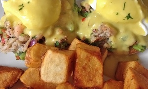 Gaslamp Cafe: $12 for $20 Worth of Happy-Hour Specials or Sunday Brunch with Drinks for Two at Gaslamp Cafe