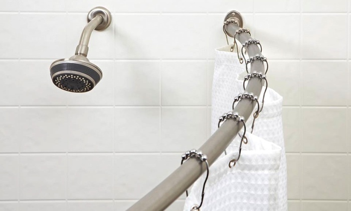 """Bath Bliss Curved Shower-Curtain Rod: $24.99 for a Bath Bliss 72"""" Curved Shower-Curtain Rod ($122 List Price). 3 Finishes Available. Free Shipping & Returns."""