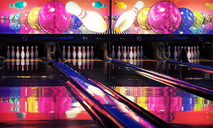 Fat Cats - Multiple Locations: Bowling Package with Round of Glow Golf and Soda for Six or One Game of Bowling for Four at Fat Cats (Up to 57% Off)