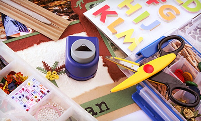 Scrapbooks Plus: Scrapbooking Supplies from Scrapbooks Plus (Up to 60% Off). Three Options Available.