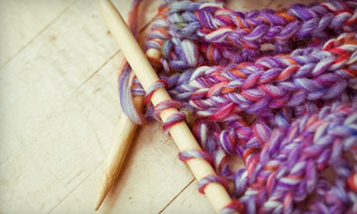 Great Balls of Yarn - Multiple Locations: One-Hour Beginners' Knitting or Crocheting Class for One or Two at Great Balls of Yarn (Up to 64% Off)