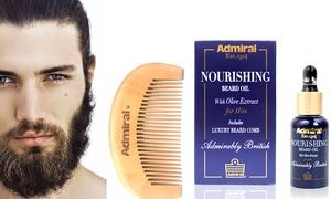 Huile de barbe et peigne