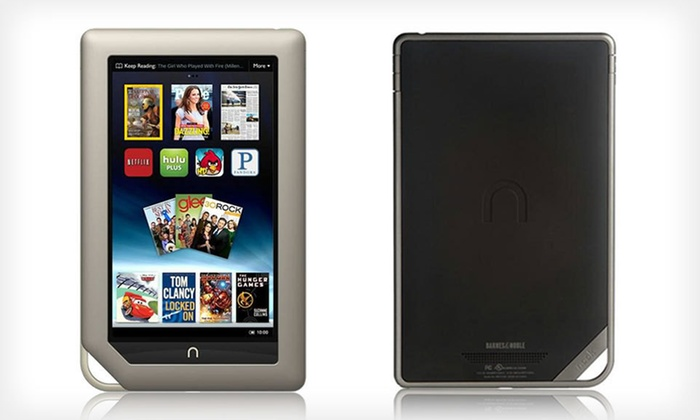 Barnes & Noble 8GB NOOK Tablet: $119 for a Barnes & Noble 8GB NOOK Tablet (Manufacturer Refurbished) ($199 List Price). Free Shipping and Free Returns.