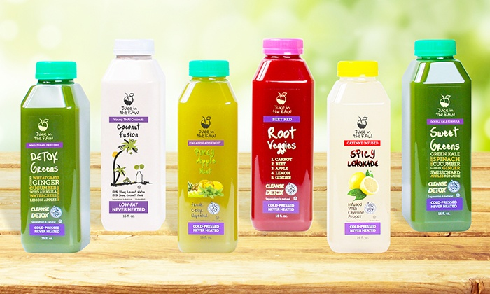 Juice in the RAW: Three-Day Cold-Pressed Juice Cleanse for One or Two from Juice in the RAW (Up to 54% Off)
