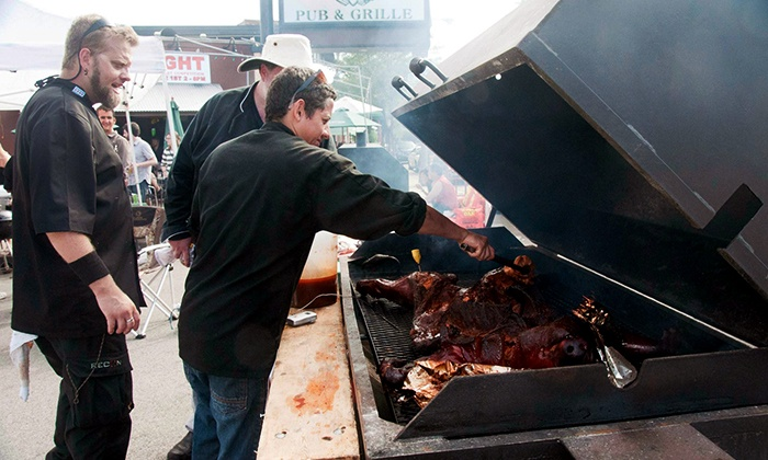 Second Annual HogFight - Mahoney's Pub & Grille: All-You-Can-Eat Pork at the Second Annual HogFight on August 31 at 3 p.m. (Up to 50% Off)