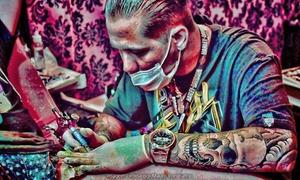 Mauro Iron Tattoo: Mauro Iron Tattoo – São Bernardo: crédito para tatuagem com até 6 x 6, 10 x 10 ou 15 x 15 cm