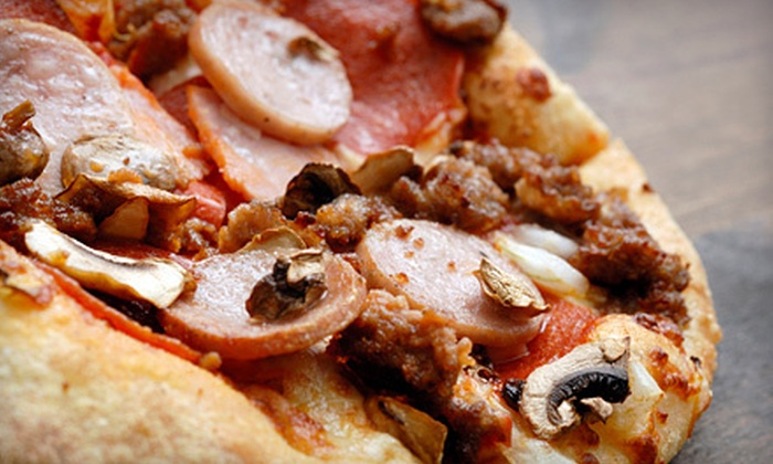 "South Side Pizza - Graduate Hospital: $15 for Pizza Meal with Two 14"" One-Topping or Specialty Pizzas and Salad from South Side Pizza (Up to a $31.75 Value)"