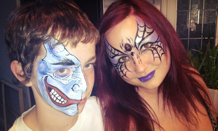Mystical Masks - Airdrie: One-Hour Face-Painting Party for Up to 10 or $25 for $50 Worth of Candy Bouquets at Mystical Masks
