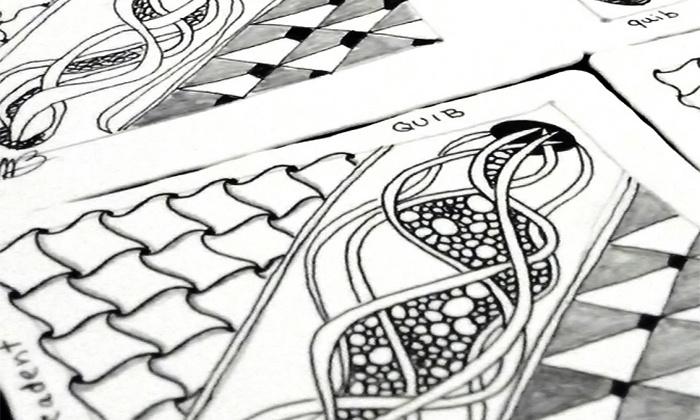 Tangled Stones - Tangled Stones Art and Stuff: Zentangle Art Class for One or Two with Take-Home Mini Kit at Tangled Stones (Up to 50% Off)