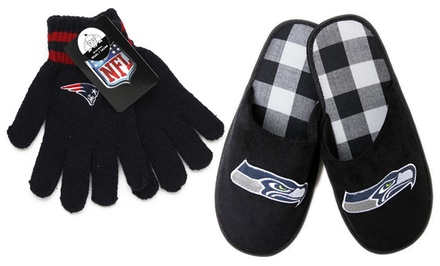 NFL Men's Corduroy Slippers or Wool Gloves from $10.99–$14.99