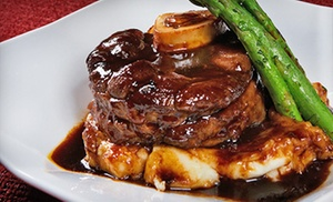 Manhattan Steak & Seafood: Steak and Seafood Dinner at Manhattan Steak & Seafood (50% Off). Two Options Available.
