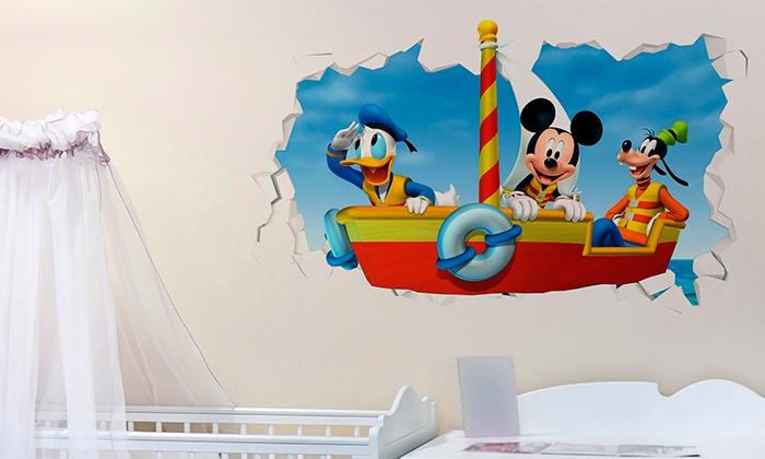 Vinilos Mickey Mouse Para Pared.Vinilos 3d De Pared Groupon Goods