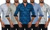 Isaac B. Men's Cotton Button-Down Shirt: Isaac B. Men's Cotton Button-Down Shirt