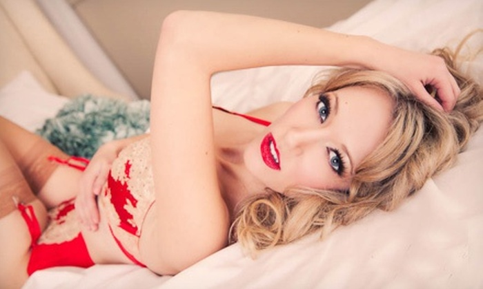 Pink Blush Boudoir - Sherwood Park: 30- or 60-Minute Boudoir Photography Packages at Pink Blush Boudoir (Up to 86% Off). Three Options Available.